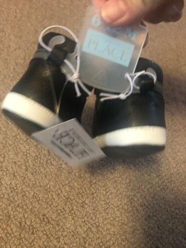 NWT The Baby Crib Shoes Black And Size 6–12