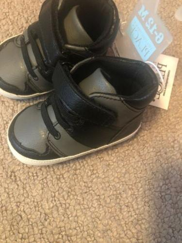 NWT The Children's Baby Boy Black And Gray 6–12 Months