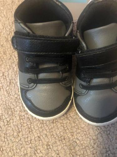 NWT Children's Place Baby Boy Shoes Black Size 6–12