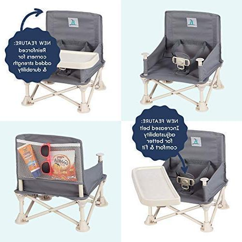 hiccapop Seat with Baby Folding High Camping, Lawn, | to - Go-Anywhere High Chair