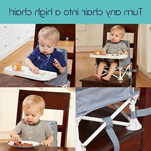 hiccapop Omniboost Travel Seat with Tray for Baby High Chair Camping, Beach, to Chairs Go-Anywhere