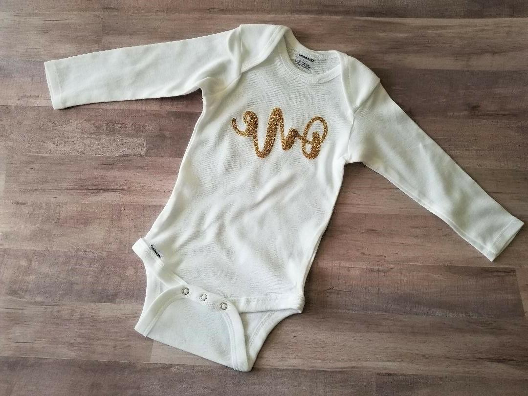 one onesie long sleeve first 1st birthday