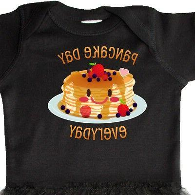 Inktastic Pancake Day Smiling Stack Infant Tutu Bodysuit