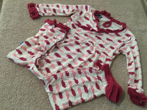 pigs bamboo one piece sleeper size 12