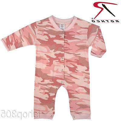 Rothco Pink Camo Infant Long Sleeve & Leg One piece Bodysuit