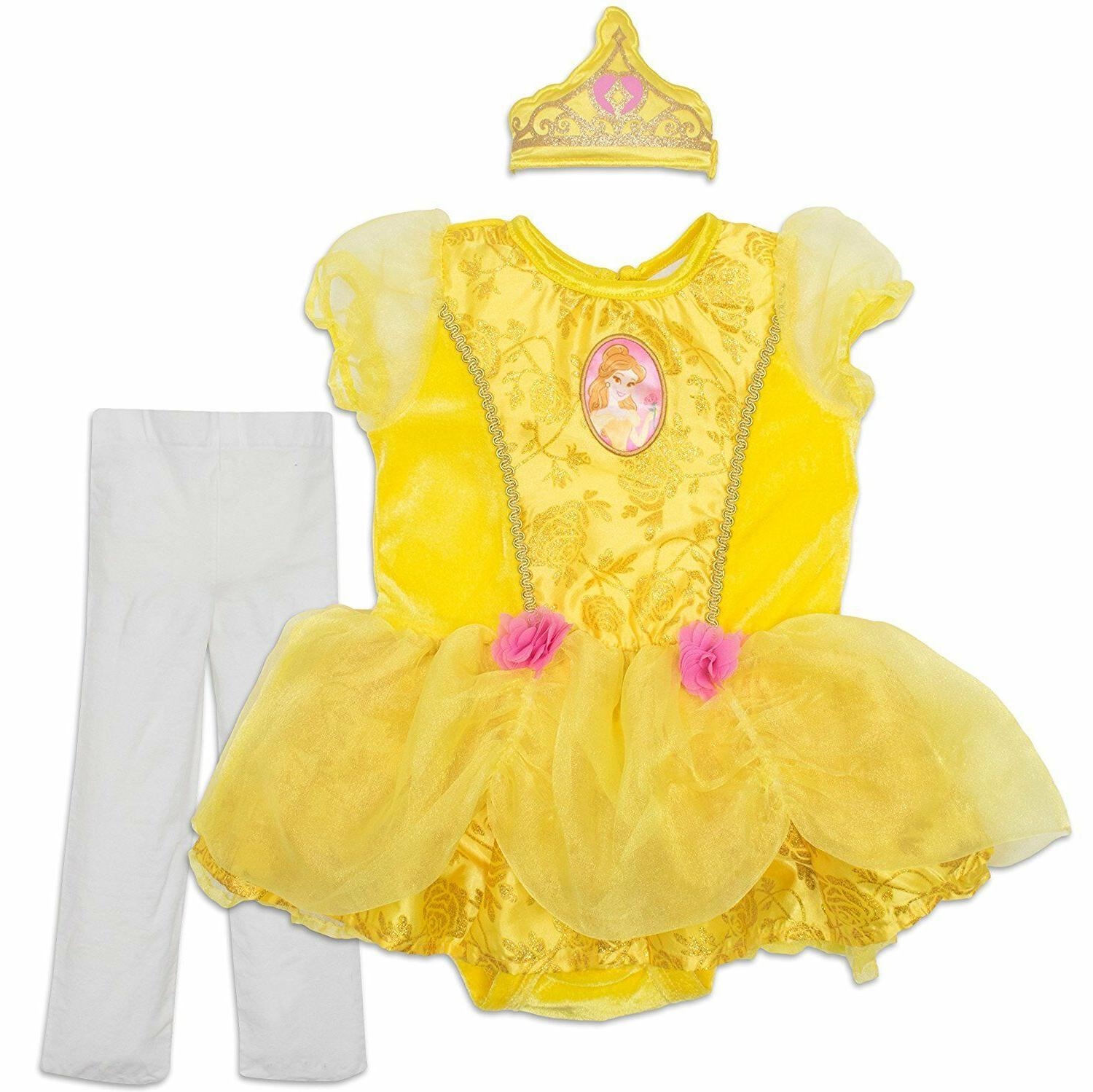 Disney Princess Belle Baby Girls' Costume Tutu Dress, Headba