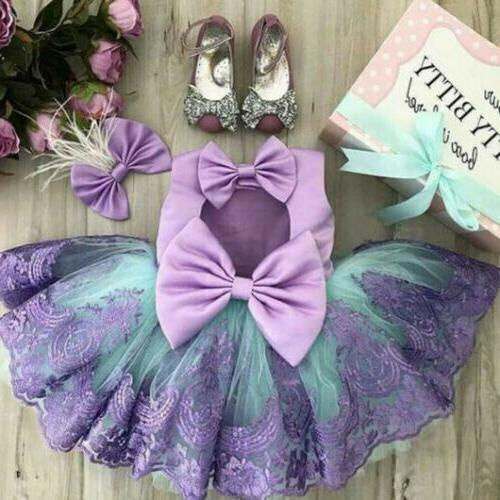 Princess Wedding Party Prom Birthday Skirt Tutu Dresses For Baby 0-5Y