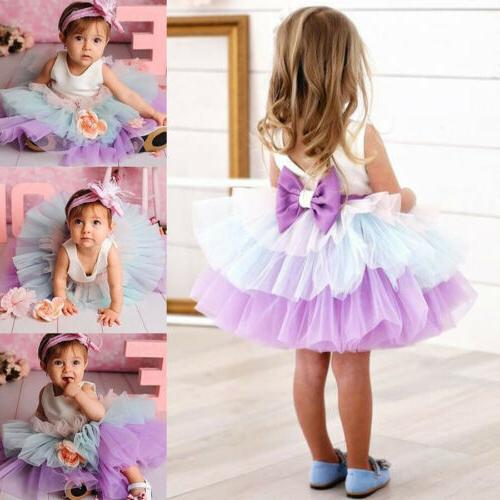 Princess Wedding Prom Birthday Dresses 0-5Y