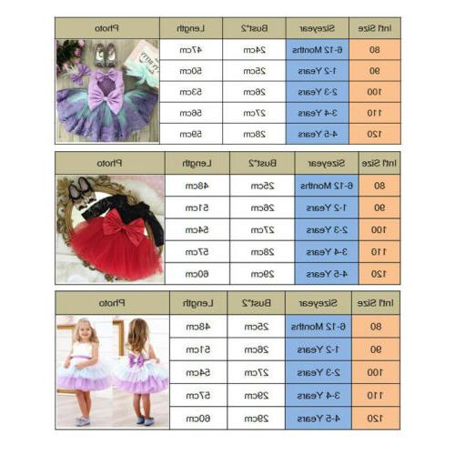 Princess Party Prom Birthday Dress Skirt Dresses 0-5Y