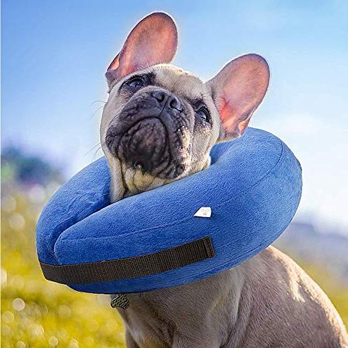 Aopuwoner Protective Inflatable for Dogs Cats,Comfortable to Stitches, Rashes Pet E-Collar.