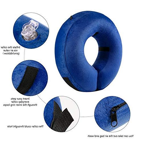 Aopuwoner Inflatable for to from Biting at Injuries, Stitches, Rashes Wounds,Soft Pet