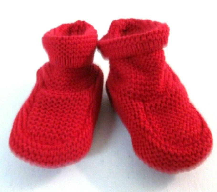BABY GAP RED knit warm booties Shoes 6-12 MONTHS $16