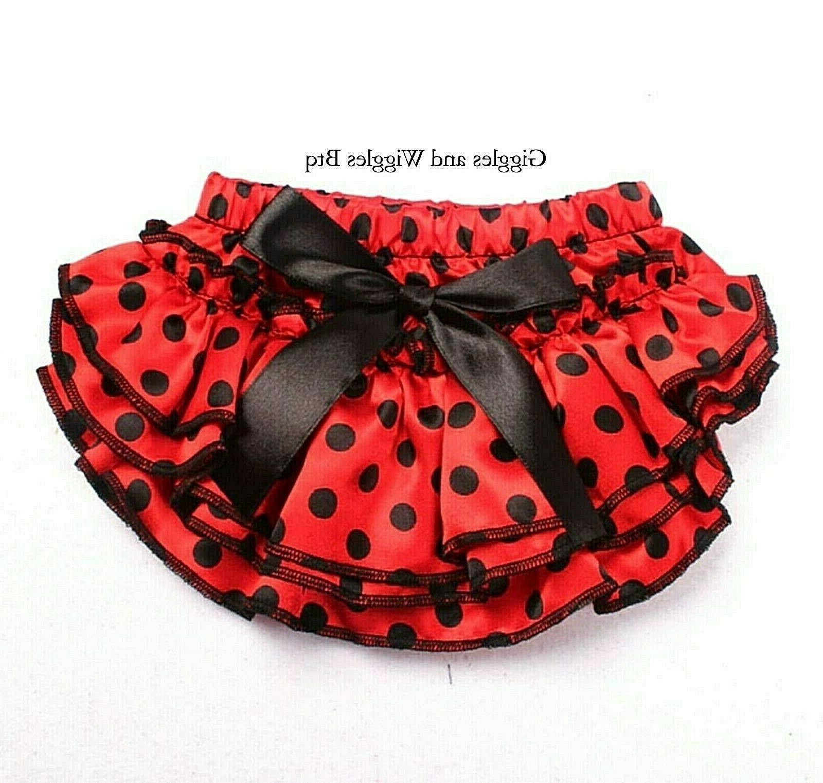 red with black polka dot diaper cover