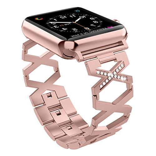 rose gold compatible with apple watch band