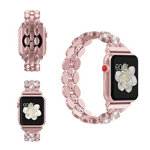 Wearlizer Compatible Apple Watch 38mm Replacement Strap Metal Hand Series 4 3 1
