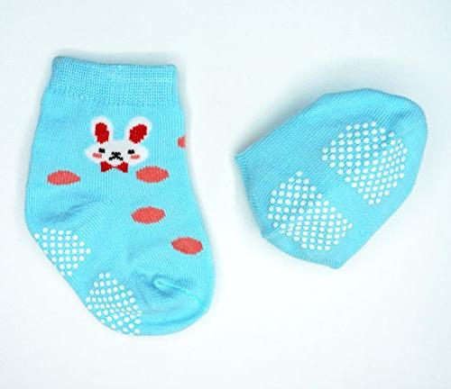Liwely Pairs Girls Skid with for 3 Months Stripe Animals Cat