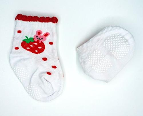 Liwely 6 Baby Skid Socks with for - Months Infants, Cat
