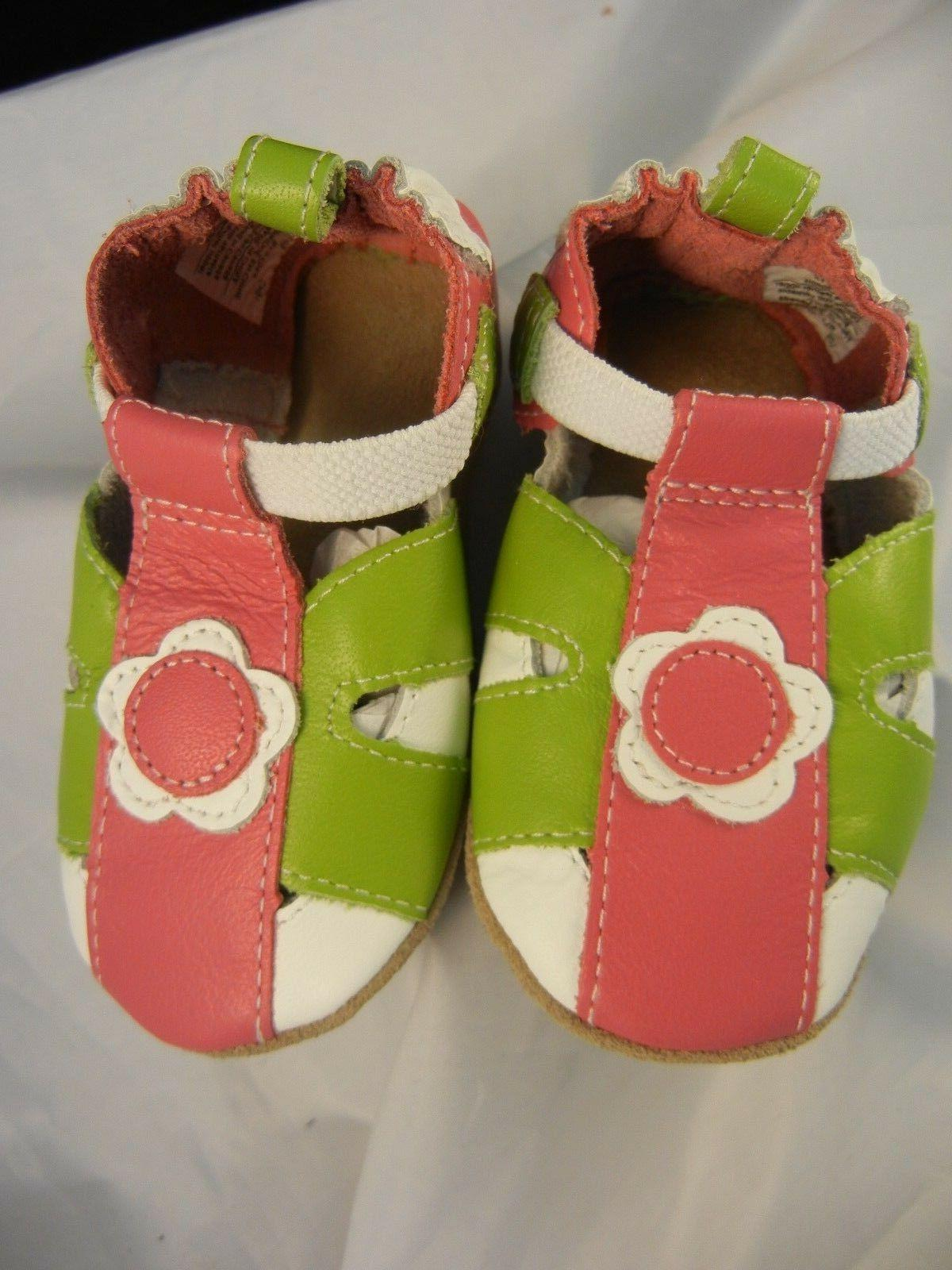 Robeez Soft Soles Pretty Pink Pansy HT Pink RL37223 Sizes 0-