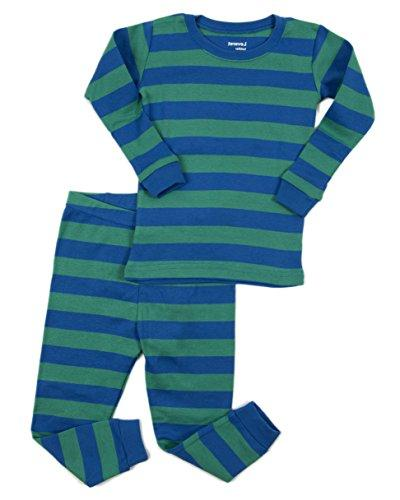 striped pajama set cotton