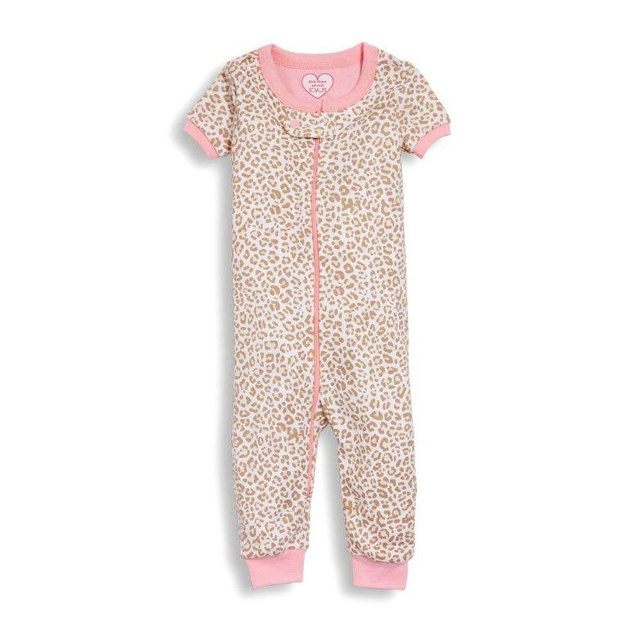 tcp baby girl 1pc leopard footless stretchie