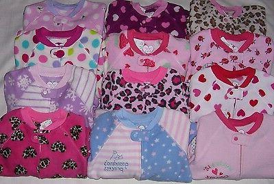 TCP BABY TODDLER GIRL 1PC BLANKET SLEEPER FOOTED FLEECE PAJA