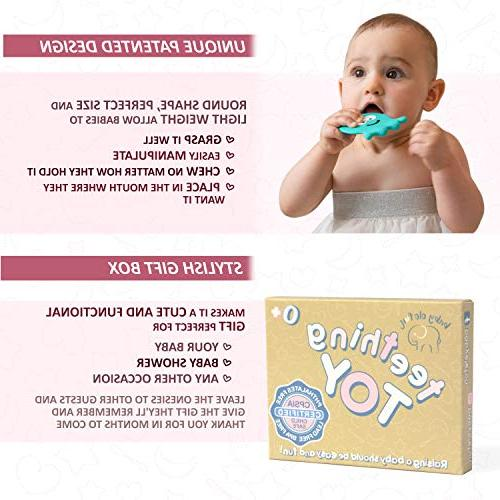 6 Month Old Teething Toys Free to Best for Freezer, 3 Months 1 Year Old Baby Shower Gifts