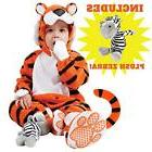 Tiger Baby Clothes Costume Set with Booties and Toy Zebra Pe