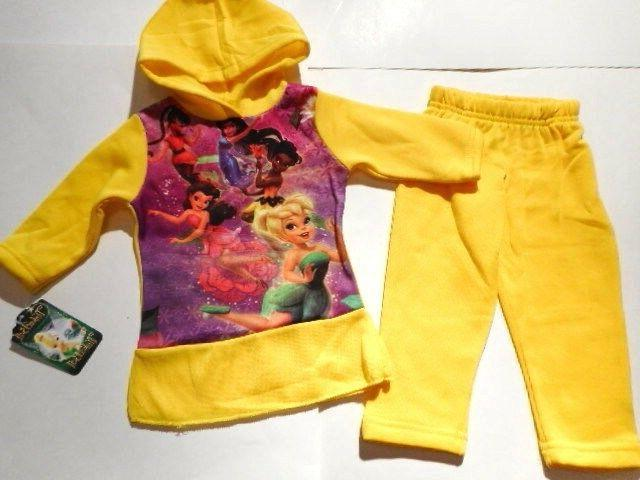 Disney Tinkerbell Girls clothes Outfits Fairies Shirts Pants