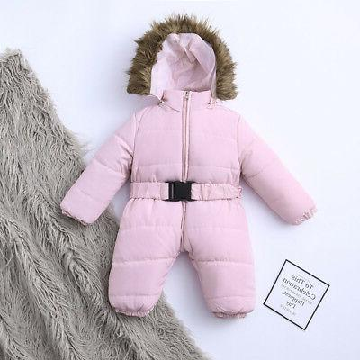 Toddler Winter Jumpsuit Thick Coat