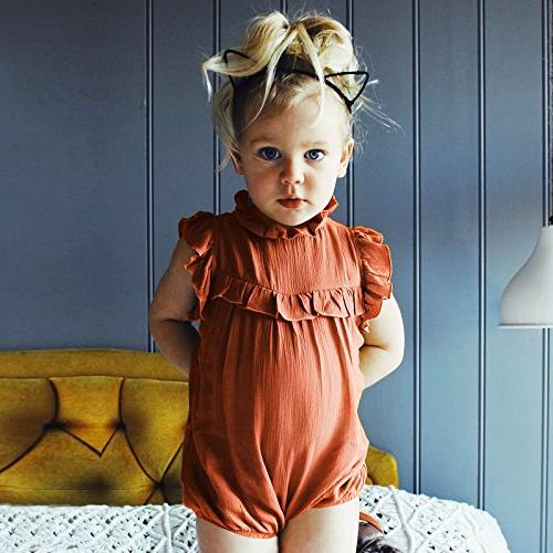 Younger Tree Girl Collar Romper Jumpsuit )