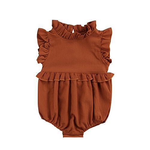toddler baby girl ruffled collar sleeveless romper