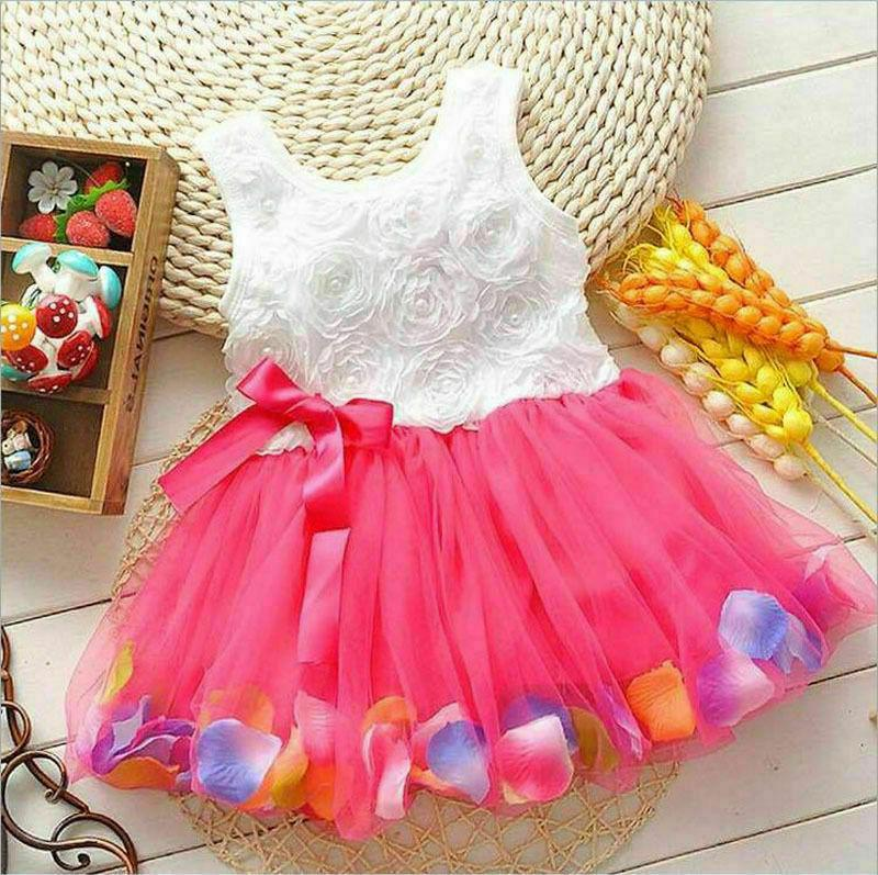 Toddler Baby Kids Princess bowknot Dresses