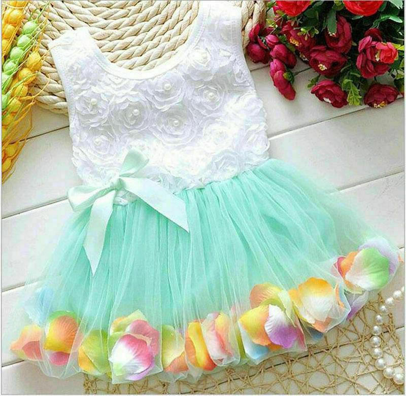 Toddler Girls Princess Party Tutu Lace bowknot Dresses