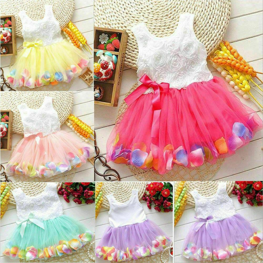 toddler baby kids girls princess party tutu