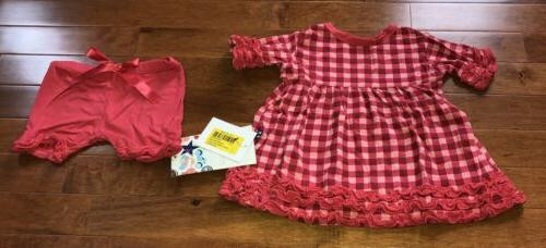 toddler girl flag red gingham babydoll set