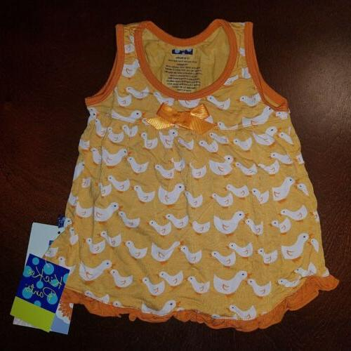 KicKee Pants Toddler Fuzzy Ducks Swing Tank New 12-18