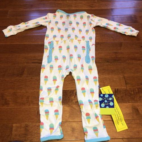 Kickee Pants Toddler Natural Cream Coverall w Zipper 12-18 New