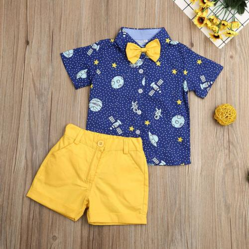 Toddler Kids Gentleman Shorts Pants Outfit US