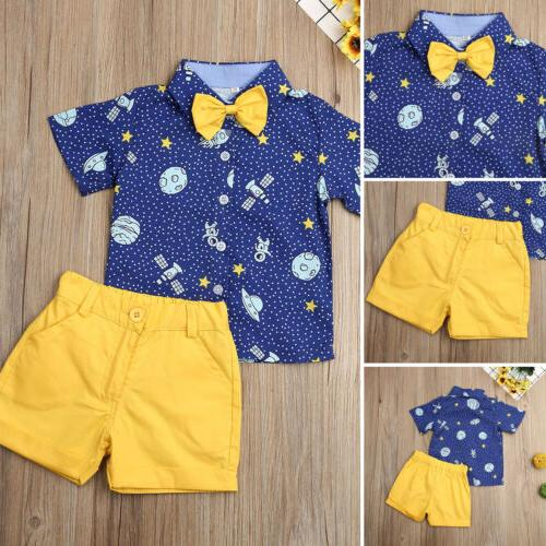 Toddler Kids Gentleman Clothes Shorts Pants Formal US