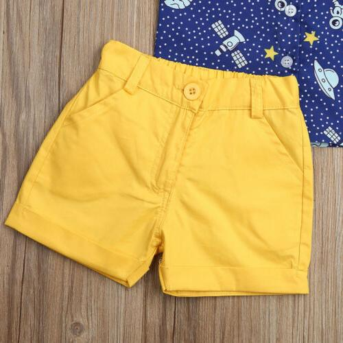 Toddler Gentleman Clothes Shirt Tops Shorts Formal US