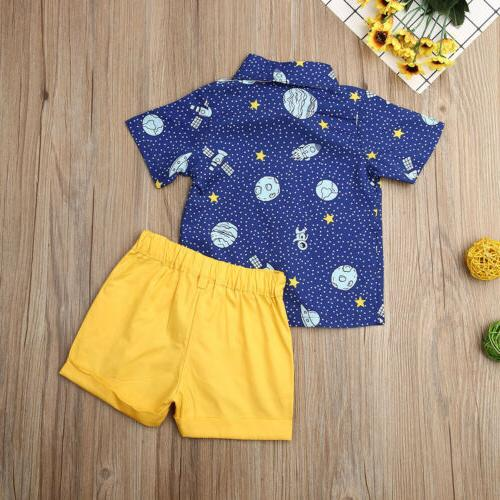 Toddler Kids Gentleman Shirt Shorts US