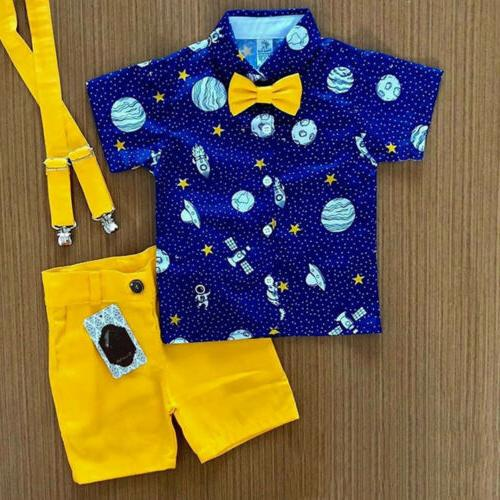 toddler kids baby boy gentleman clothes shirt