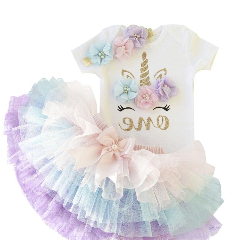 1 Baby Birthday Outfits Tutu Christening Gowns