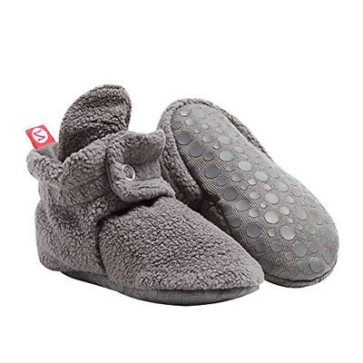 Zutano Unisex Baby Cozie Fleece Baby Booties with Grippers -