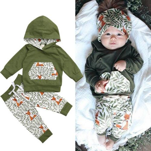 US 2Pcs Baby Boy Outfits