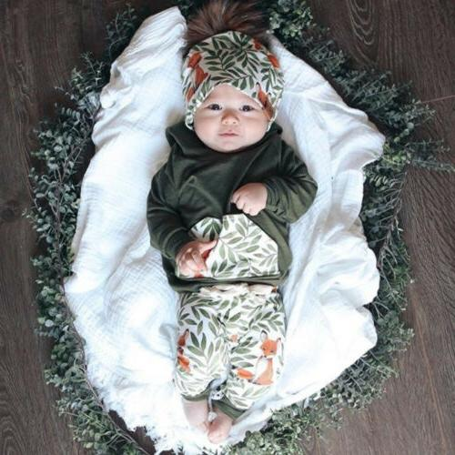 US Newborn Baby Hooded Pants Outfits Clothes