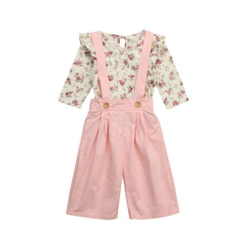 US Toddler Baby Clothes Floral Outfits