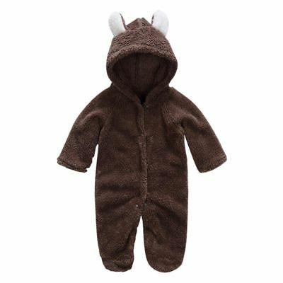 Newborn Infant Romper Hooded Baby Bodysuit