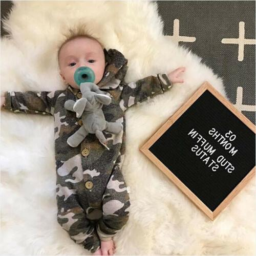 US Baby Camouflage Playsuit Outfit Clothes
