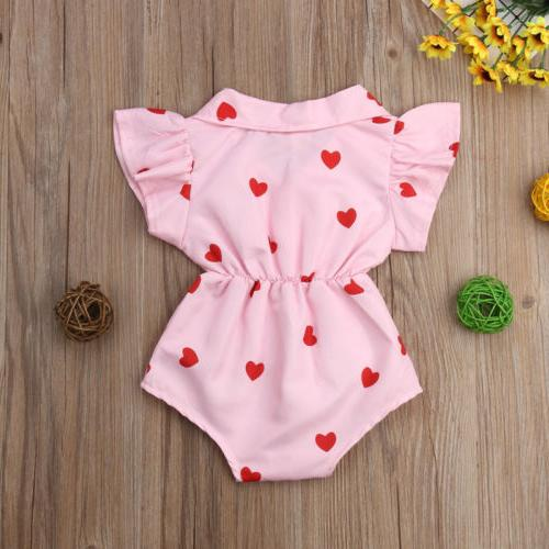 US Baby Girl Flower Jumpsuit Outfit Clothes Summer
